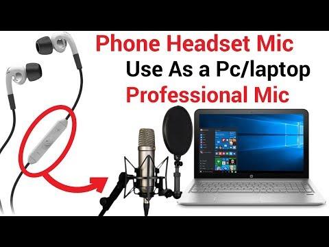 how-to-use-phone-earphone-mic/-headphone-mic-as-pc-mic-(-hindi-)