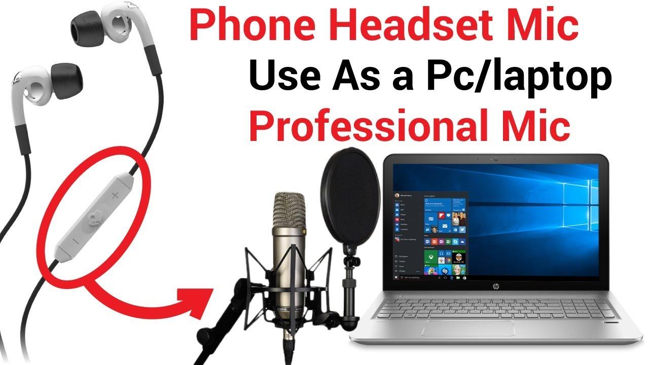 How To Use Phone Earphone Mic Headphone Mic As Pc Mic Hindi Youtube