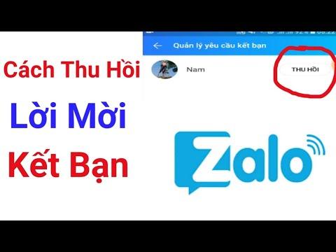 Cách thu hồi lời mời kết bạn trên Zalo