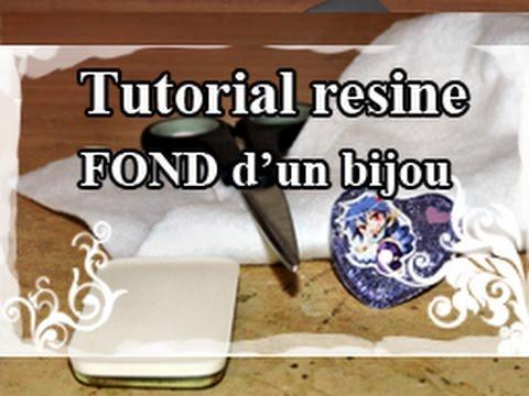 DIY : Resin Tuto / Resine Tutoriel N°6 : Faire le FOND d'un bijou (résine/feutrine)