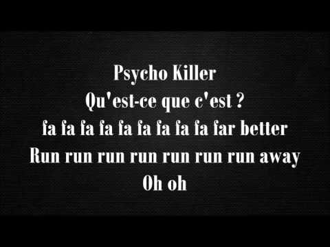 Talking Heads - Psycho Killer (Lyrics)