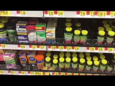 At Walmart looking at My favorite vitamins
