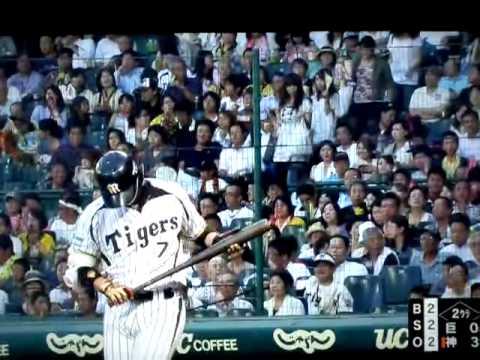 2013/07/16 阪神 西岡剛選手 公式戦1000本安打達成