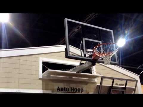 Auto Hoop fold away basketball hoop