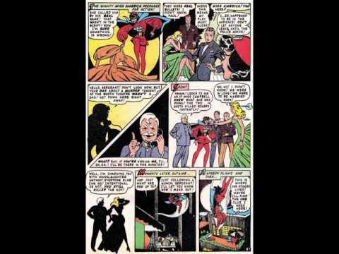 Blonde Phantom 14 Summer 1947 Death Drops the Curtain #comic book