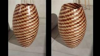 Tournage sur bois, Vase segmenté de +1000 pièces !
