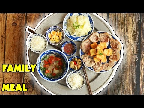 FAMILY MEAL - Northern Vietnamese Style - Bữa cơm Miền Bắc