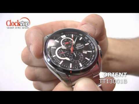 ORIENT TT13001B - Крупные мужские наручные часы, оснащённые хронографом