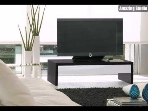 ikea m bel fernsehm bel tv tisch aus holz in dunkler farbe. Black Bedroom Furniture Sets. Home Design Ideas