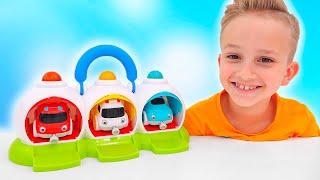 Vlad và Niki vui đùa bên ô tô đồ chơi - Video vui nhộn dành cho các bé