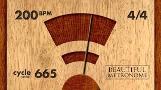 200 BPM 4/4 Wood Metronome HD