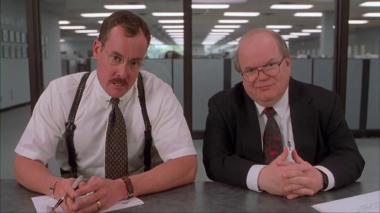 Office Space Interview Scene Youtube