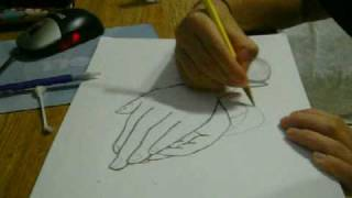 Praying Hands Sped-up Drawing-Sugar Ray