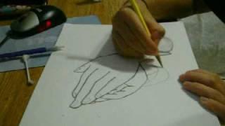 Praying Hands Sped-up Drawing-Sugar Ray