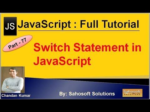 SwitchStatement in JavaScript | JavaScript Full Tutorial in Hindi thumbnail