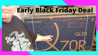 Samsung 82 Inch Q70R 4k Smart Tv   44% Off Amazing Early Black Friday Deal