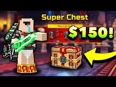 Noob Spends $150 On Pixel Gun 3D...RIP (Super Chest Opening)