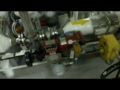 Inside a LNG cargo compressor room with Reliquefaction Plant