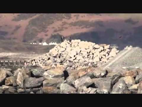 Borth Sea Defenses March 2011 video 4