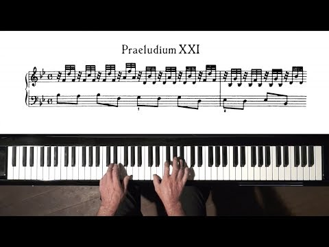 Bach Prelude and Fugue No.21 Well Tempered Clavier, Book 1 with Harmonic Pedal