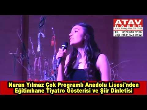 Nuran Yılmaz Çok Programlı Anadolu Lisesi'nden  Eğitimhane Tiyatro Gösterisi ve Şiir Dinletisi