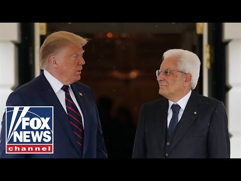 Trump, Italian President Sergio Mattarella hold a joint press conference