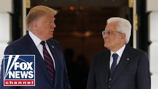 Trump, Italian President Sergio Mattarella hold a joint press conference