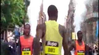 Usain Bolt World Record 150m  Manchester