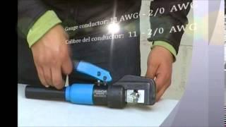 DCH8 - 4/70 - hydraulic crimping tool - (12 - 3/0 AWG)