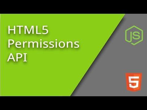 HTML5 Permissions API