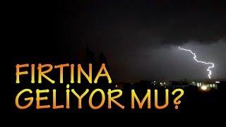 İzmir' de 10 saniyede bir şimşek çakıyor (30.09.2018)
