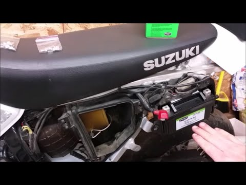 How to Replace A Battery In A Suzuki DRZ400 - YouTube