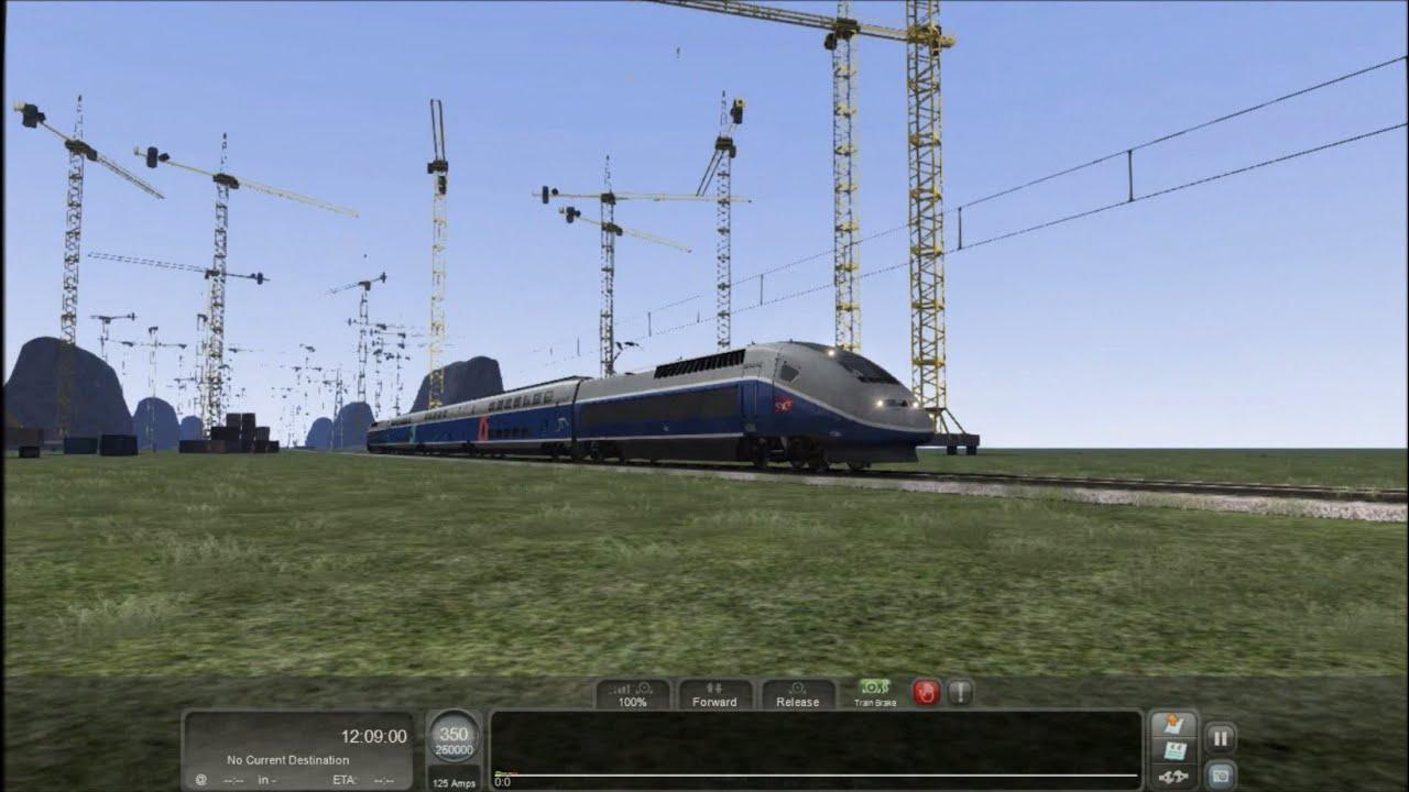 Train Simulator 2016 HD: TGV Duplex Physics Mod Update (V150 574 km/h Test  on Jet Train Route)