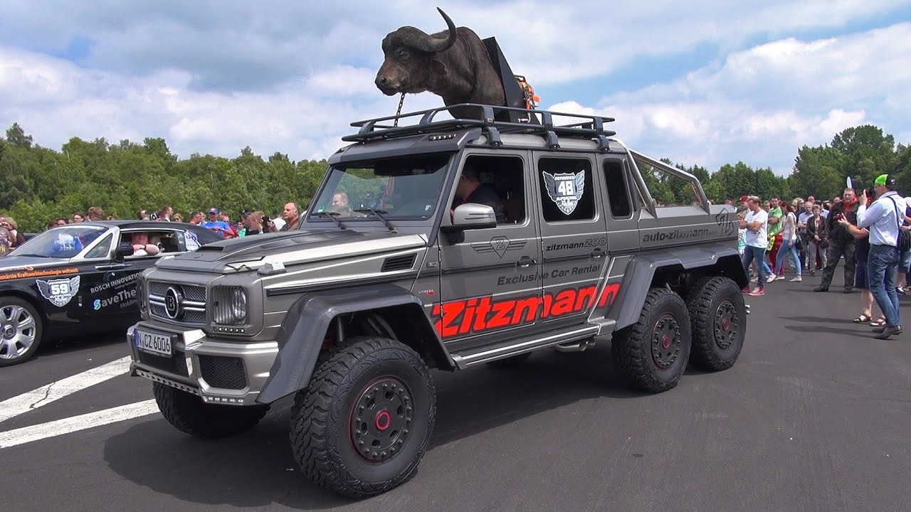 $780,000 BRABUS 700 G63 AMG 6x6 1/4 Mile Drag Racing! - YouTube
