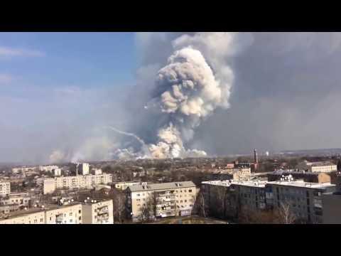 Ukraina: Pożar składu amunicji. Ewakuacja miasta-Ukraine: