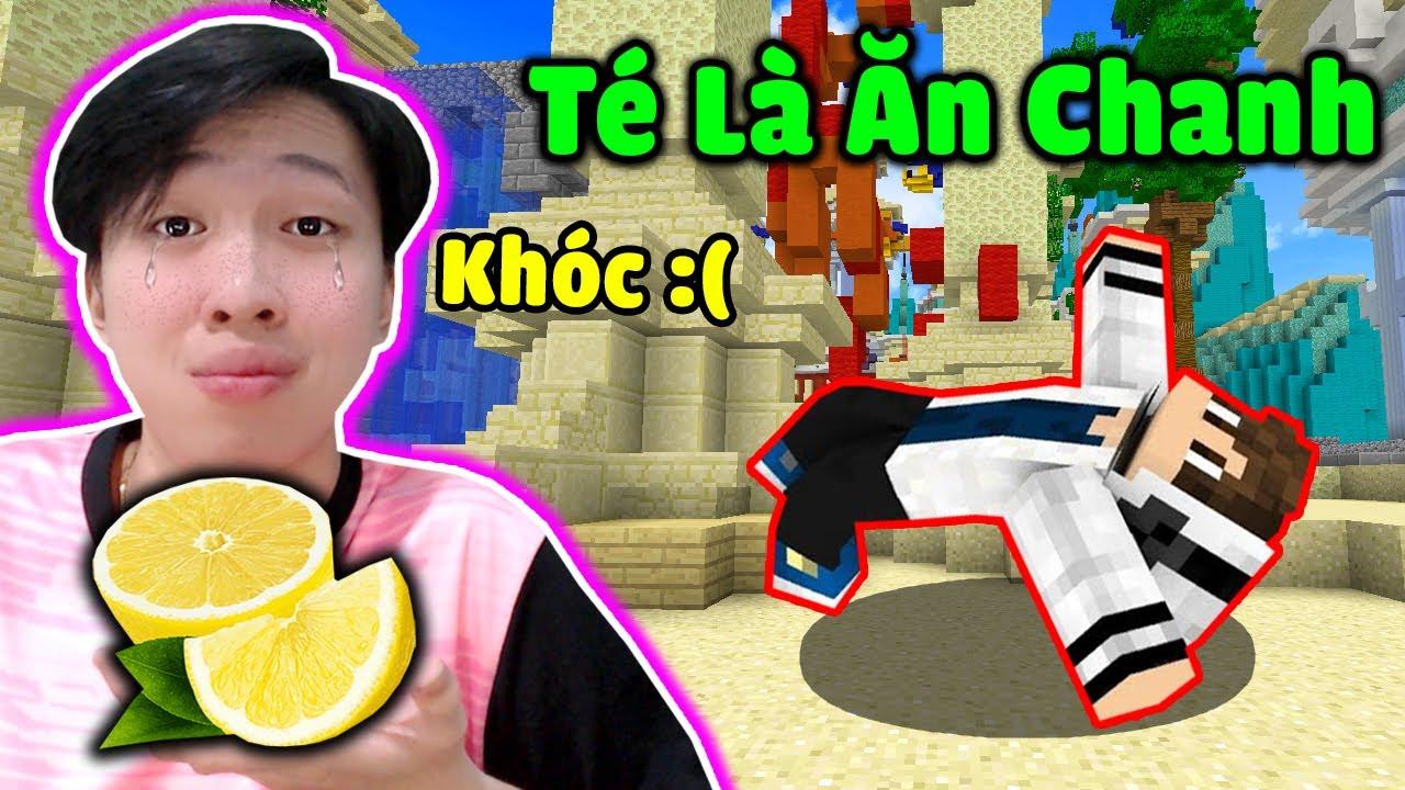Vinh Chơi Ngu Parkour Té Là Bị Ăn Chanh Đến Mức Khóc Trong Minecraft * KHÔNG ỔN THẬT RỒI 😭