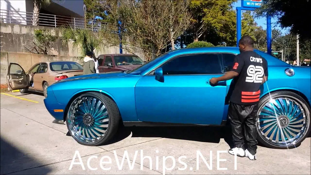 Acewhips Net Vick S Candy Teal Challenger R T On 30 Quot Dub Swyrl Floaters Youtube