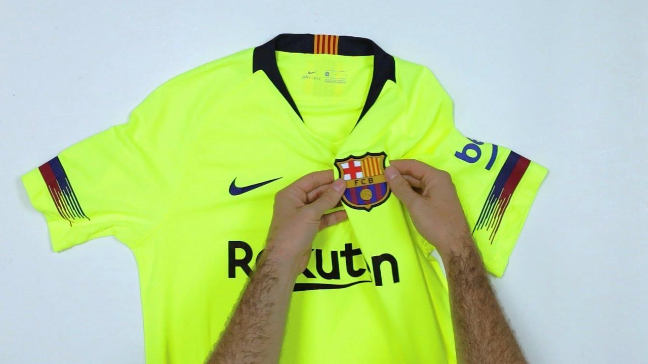 UNBOXING  La nueva camiseta FC Barcelona temporada 2018 2019 AWAY. Fútbol  Factory ba0232c268f9c