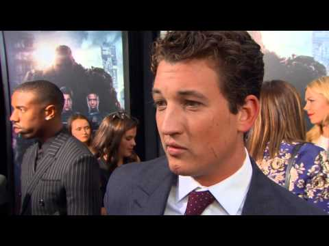 """The Fantastic Four: Miles Teller """"Reed Richards"""" NYC Movie Premiere Interview"""