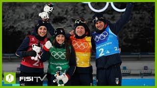 Vittozzi/Wierer/Hofer/Windisch bronzo nella staffetta mista a Pyeongchang
