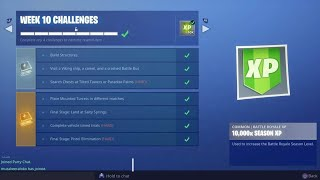 Fortnite - Season 6 - Week 10 - Completing Challenges in Friend's Account