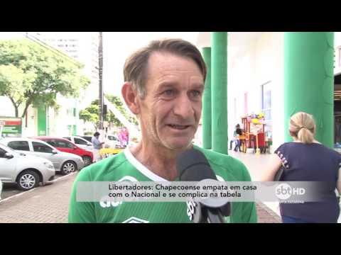 Chapecoense empata em casa com o Nacional e se complica na tabela da Libertadores
