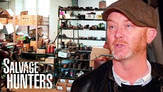 Finding Impressive Industrial Furniture A Traditional Boot Factory | Salvage Hunters