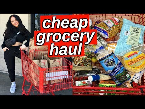 healthy cheap grocery haul | how to grocery shop for one person