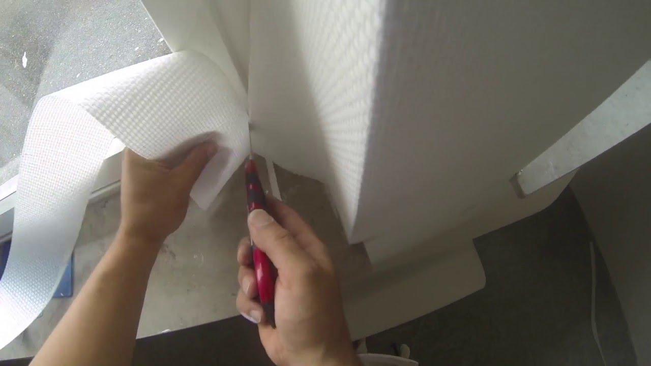 glasgewebe tapezieren fenster und ecken richtig schneiden - youtube