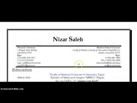 How To Write Medical Student Cv  Part  Of   Youtube