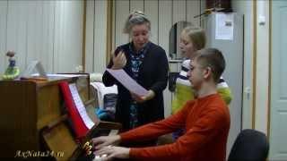 Урок вокала. Ф.Абт  вокализ № 3, поём с листа (часть 2-я)