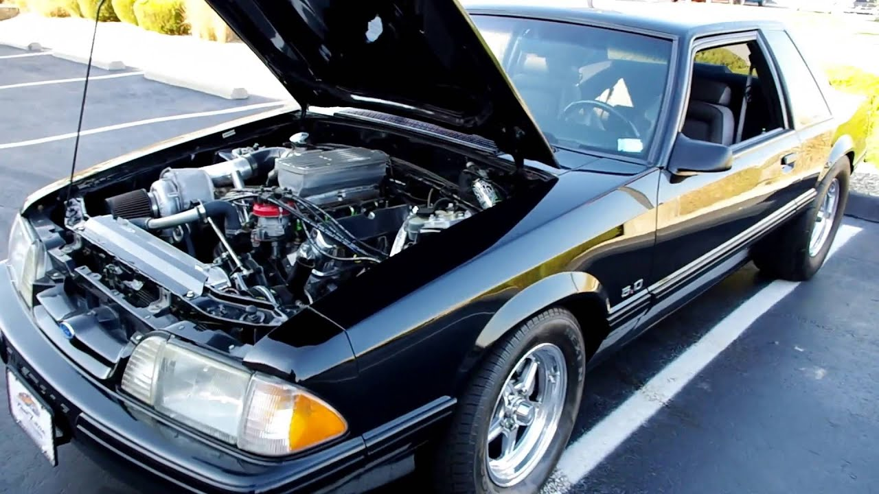 1992 Ford Mustang LX Notchback @ Fast Lane Clic Cars - YouTube