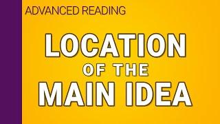 Location of the main idea sentence