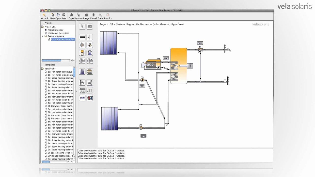 Polysun Solar Thermal Software Designer Version